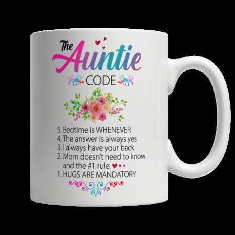 The Auntie Code - White Mug