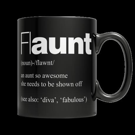 flAUNT - Black Mug