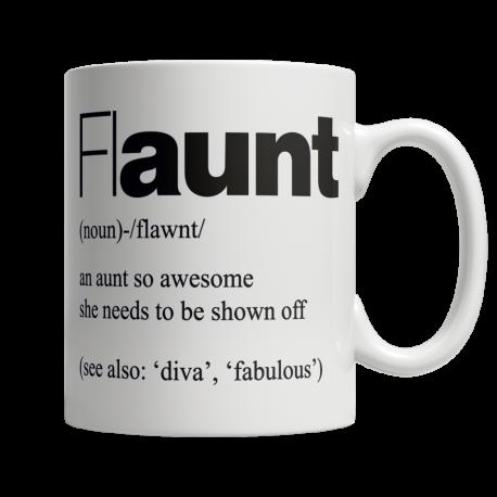 flAUNT - White Mug