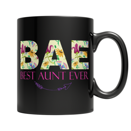 BAE Best Aunt Ever - Black Mug