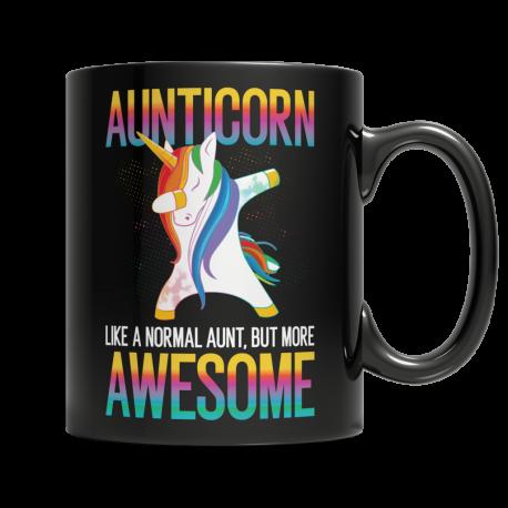 Aunticorn - Black Mug