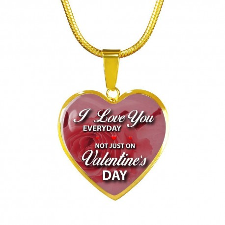 I Love You Everyday - Gold Heart