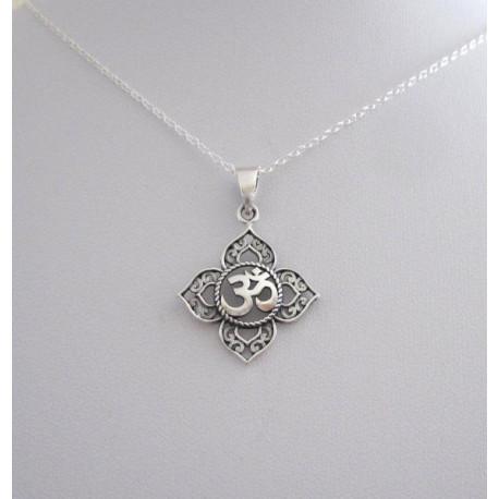 OM Lotus Pendant