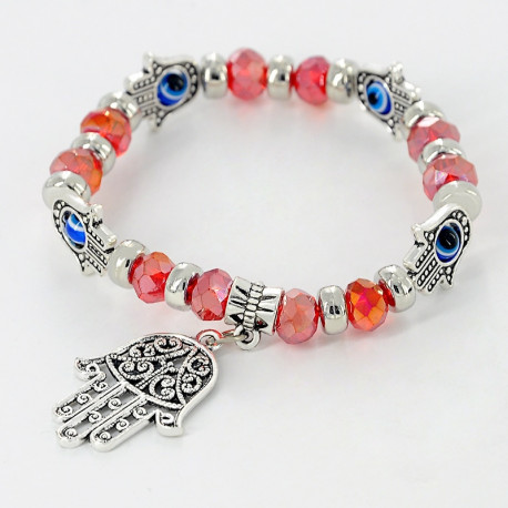 Retro Lucky Bead Bracelet