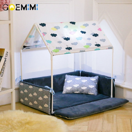 Small Dog Bed with Canopy