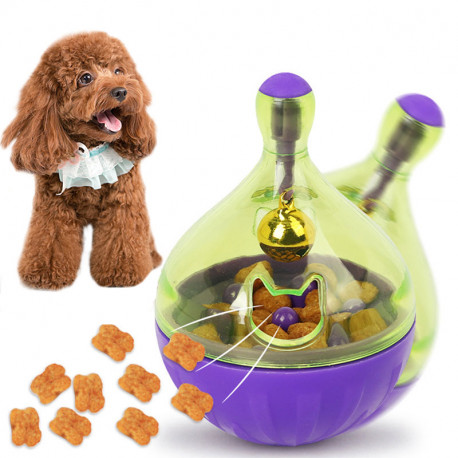 Interactive Rolling Dog Treat Toy