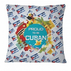 Proud to be Cuban Pillow Case Cover