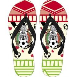 Love FMF Mexican Football Flip Flops