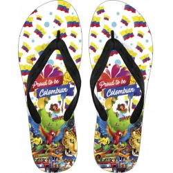 Proud to be Colombian Flip Flops