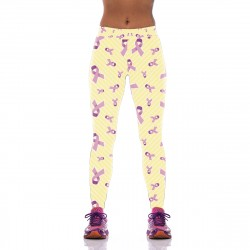 Pink Ribbon Power Leggings