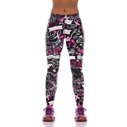 Keep Calm and Fight On Leggings