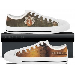 Baratheon White Low Tops