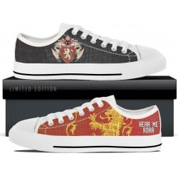Lannister White Low Tops