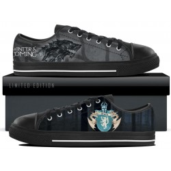 Stark Black Low Tops