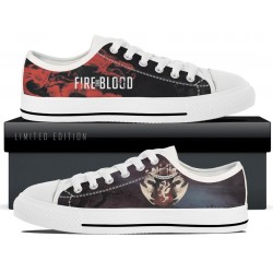 Targaryen White Low Tops