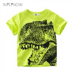 INPEPNOW Dinosaur T Shirt For Boys Kids Shirts Jurassic World Tops For Kids tshirt Short Sleeve T-shirt Girl Children DX-CZX40