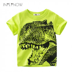 INPEPNOW Dinosaur T Shirt For Boys Kids Shirts Jurassic World Tops For Kids tshirt Short Sleeve T-shirt Girl Children DX-CZX40