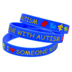 I Love Someone with Autism Multicolor Wristband Add product to GrooveKart