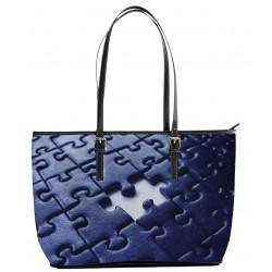 Autism Navy Blue Tote Bag