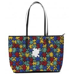 Autism Awareness Multi Color Tote Bag