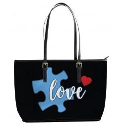 Autism Love Light Blue Tote Bag