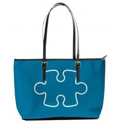 Autism Puzzle Azur Blue Tote Bag