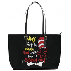 Autism Why Fit In Tote Bag