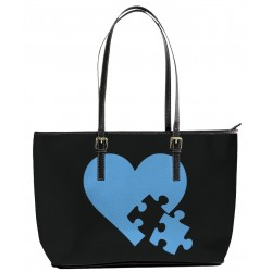 Autism Heart and Puzzle Tote Bag