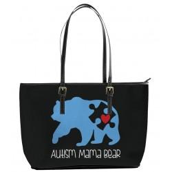 Autism Mama Bear Tote Bag