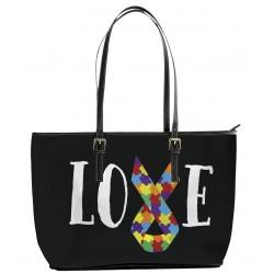 Autism Love Ribbon Tote Bag