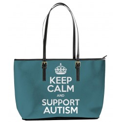 Keep Calm and Support Autism Tote Bag
