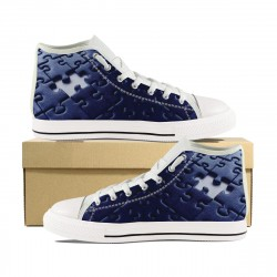 Autism Navy Blue High Tops