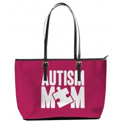 Autism Mom Red Tote Bag