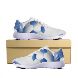 Soccer Ball 3D Blue Sneakers