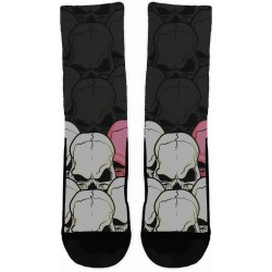 Skulls White & Rose Socks