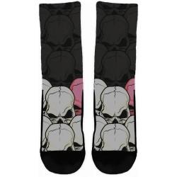 Skulls White & Rose Socks