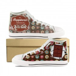 My Happiness Depends on Chocolate! High Tops