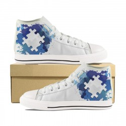 Autism White On Blue High Tops