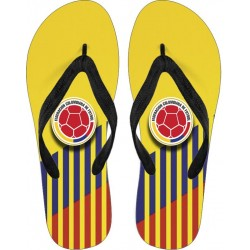 """NUESTRO ORGULLO! FCF Colombia"" Flip Flops"
