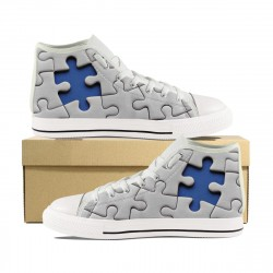 Autism Blue on White High Tops