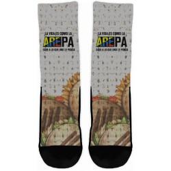 """""""La vida es como la AREPA"""" Socks"""