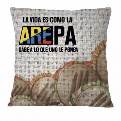 """""""La vida es como la AREPA"""" Pillow Case"""