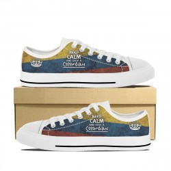 """""""Keep Calm and Date a Colombian"""" Low Tops"""