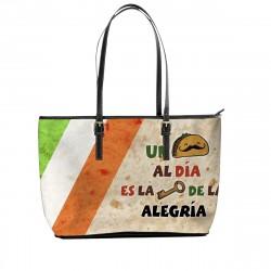 """""""Un Taco al dia es la llave de la Alegria"""" Tote Bag"""