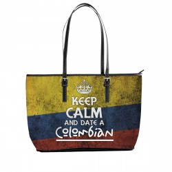 """""""Keep Calm and Date a Colombian"""" Tote Bag"""