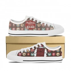 My Happiness Depends on Chocolate! Low Tops