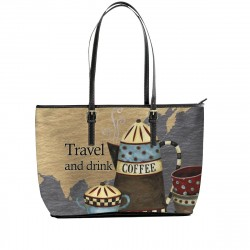 Travel and Drink Coffee Tote Bag