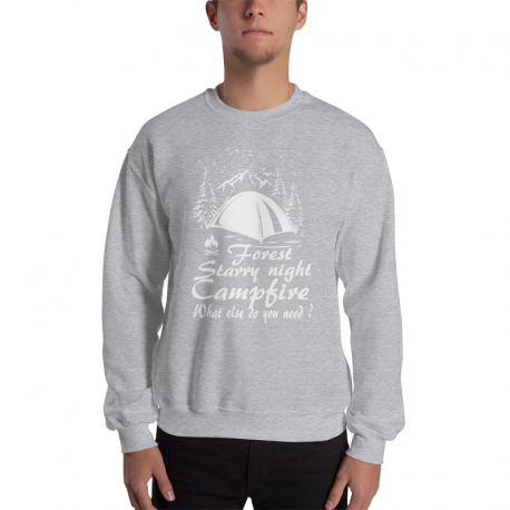Starry Night - Camping - Unisex Sweatshirt