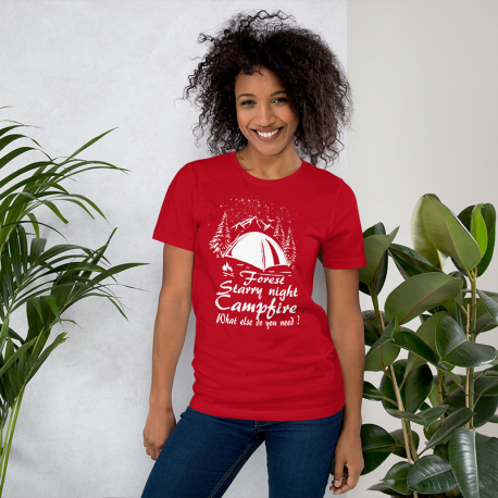 Starry night camping - Short-Sleeve Unisex T-Shirt