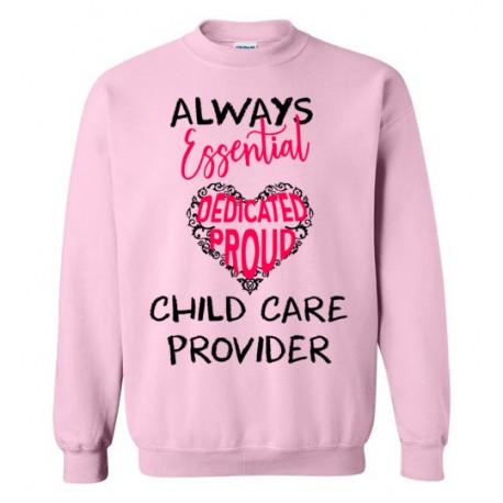 Words in Pink Heart Black font Sweatshirt